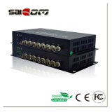 Van Saicom (sCV-08D1mT/R) 8CH Video+1CH- Gegevens (RS485), Enige Vezel, Digitale Video Optische Convertor