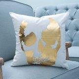 Folie/het het Decoratieve Kussen/Hoofdkussen van Af:drukken Gold&Silver met het Patroon van de Schedel (mx-03)