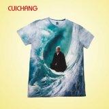 Plein T-shirt de sublimation avec la bonne qualité, T-shirt fait sur commande