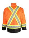 Hi-Vis Naranja / Negro refelctive seguridad a prueba de agua para hombre Parka Abrigo de invierno