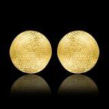 Brincos populares chapeados ouro da liga do estanho do parafuso prisioneiro da orelha da forma redonda