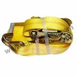 5t de poliéster de color amarillo de amarre de carga correa retráctil