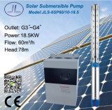 водяная помпа погружающийся 25HP 6inch центробежная солнечная