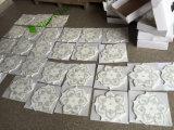 Tuile de marbre blanche Waterjet de salle de bains de mosaïque