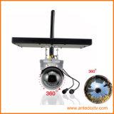 태양 감시 카메라 무선 WiFi IP 360 파노라마 넓은 전망