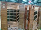 Zaal van de Sauna van de Sauna van vier Mensen de Houten Infrarode Binnen Droge