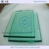 vidrio de hoja claro destemplado transparente del flotador de 10m m para el edificio/los muebles