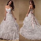 Vestido de Novia 2014 Nueva línea de tren de la Corte de enamorados de Organza vestido de novia vestido de novia vestido de velada vestidos de novia 2014