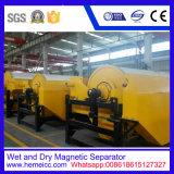 Separador magnético, separador permanente molhado do cilindro magnético pre para minérios