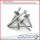 Aluminiumstahl-geöffneter Typ runder Hauptvorhang-Niet-geöffneter Typ angesenkter Hauptvorhang-Niet