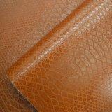 Cuoio artificiale dell'unità di elaborazione di brevetto del Brown, cuoio impresso del sacchetto del Faux