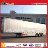 Tarpaulin Open Box Truck Semi-remorque à rideaux en acier