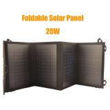 Generador de energía solar de 20W Banco de energía portátil con el panel solar para el hogar / al aire libre