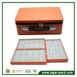 Cierre con cremallera cuero de lujo joyas Caja de almacenamiento portátil con