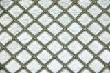 Tuiles de mosaïque en verre argentées