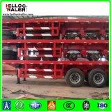 Árbol resistente del acero de carbón Q345 tri 50 toneladas de acoplado plano del carro