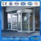 中国の製造業者の緩和されたガラスの水晶の回転ドア
