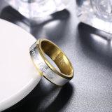 2017 Ring van het Roestvrij staal van de Liefde van de Kleur van de Juwelen van de Manier de Eenvoudige Dubbele voor altijd voor Mensen