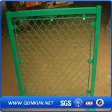 Frontière de sécurité enduite de maillon de chaîne de treillis métallique de garantie de PVC