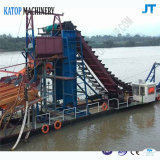 浚渫船150トンの金の浚渫船の金のバケツ