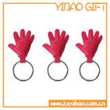 Forma de mano personalizados llavero de cuero auténtico para el recuerdo (YB-LC-01)