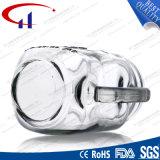 손잡이 (CHM8688)를 가진 돋을새김된 정연한 격발준비작용 단지 유리제 석수 컵