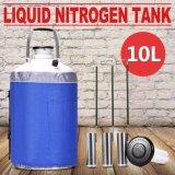 envase criogénico estático del tanque de almacenaje del nitrógeno líquido 10L con las correas