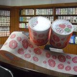 Fournisseur de vente en gros estampé par coutume de rouleau de papier hygiénique de la Chine