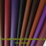 Cuoio del PVC del cuoio sintetico del PVC del cuoio della valigia dello zaino degli uomini e delle donne di modo del cuoio del sacchetto del fornitore Z082 di certificazione dell'oro dello SGS