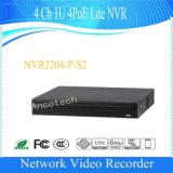 CCTV NVR (NVR2204-P-S2) del canal 1u 4poe Lite de Dahua 4