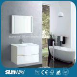 Module de salle de bains blanc de peinture de forces de défense principale de vente chaude avec le bassin (SW-1302)