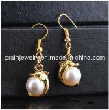 La primavera de Bisutería Classic pendientes chapado en oro y perlas pendientes de cristal de elementos de la moda la moda de joyería de Pendientes de Aleación de Bisutería pendientes (PE-014)