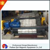 Separador de metal magnético de cinto revestido montado sobre o transportador