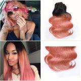Weave barato que vende em linha o cabelo colorido macio do Malaysian de Ombre