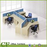 Poste de travail modulaire de compartiments de centre d'appels de partition de bureau pour la personne 4