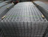 Panel de malla de alambre soldada de acero galvanizado en construcción