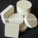 Cerâmica do favo de mel do Cordierite como media da inversão térmica