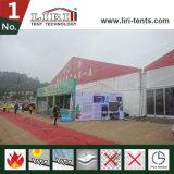 tenda della portata della radura di 50m con la tenda foranea laterale di mostra di altezza di 6m