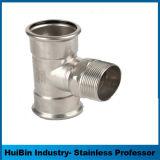 Pressa standard dell'acciaio inossidabile di BACCANO universale singola che consuma il T uguale dei montaggi con il filetto maschio
