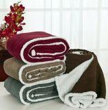 Warmly winter Quilt Coral Fleece Blanket with Shu Velveteen