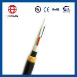 Cable óptico del protector doble de la base ligera de ADSS 12