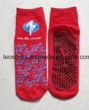 Anti de glissade de tremplin de saut de chaussettes chaussettes de Pilates de yoga de glissade non