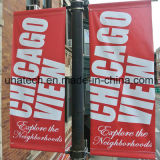 Pólo de rua de metal imagem de exibição de Mídia de Publicidade Rack (BT55)
