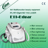 4 в 1 Многофункциональный Elight RF ND YAG лазер машины