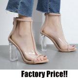 Ясные Peep-Toe сандалии высокой пятки способа женщин (HT-S1001)