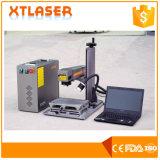 Máquina de prata da marcação do laser da corrente chave de aço inoxidável do ouro