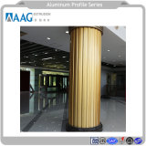 La norma ISO fábrica China de aluminio LED / Perfil de aluminio Shell y la luz para el radiador y la pared de cortina de abalorios de cristal