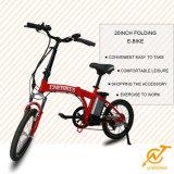 20 '' mini bicicleta eléctrica plegable 250W / bici con la batería de litio