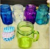 divers conteneur coloré de l'eau de choc de maçon 450ml