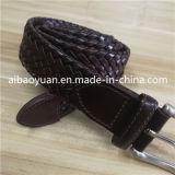 Коричневый загар поясной ремень со сплетением кожаный ремешок